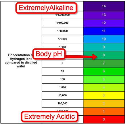 pH balance diet - pH scale