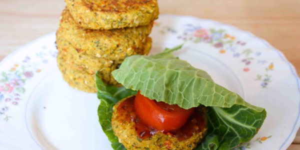 Recipe – Low Fat Falafel Burger With Cabbage Wraps